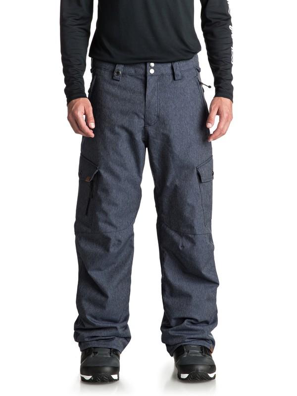 0 Сноубордические штаны Porter Denim Синий EQYTP03103 Quiksilver