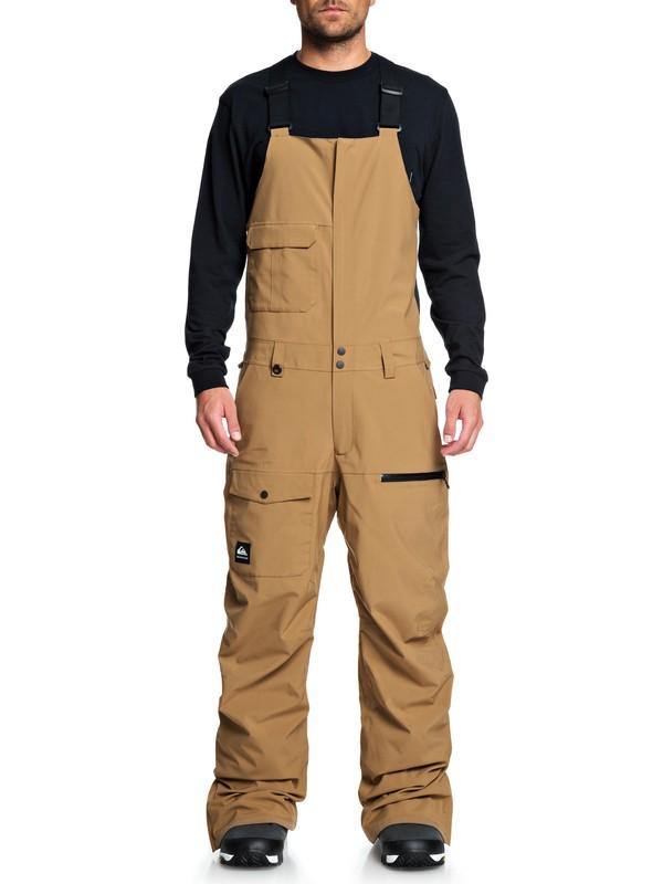 0 Utility Snow Bib Pants Brown EQYTP03120 Quiksilver