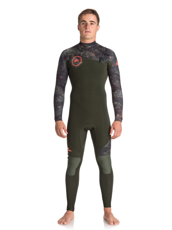 0 3/2mm Syncro Series - Chest Zip GBS Wetsuit for Men Green EQYW103038 Quiksilver