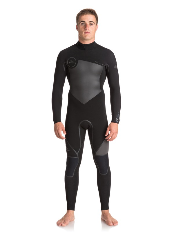 0 3/2mm Syncro Plus Back Zip Wetsuit Black EQYW103039 Quiksilver