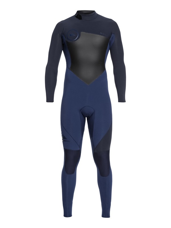 0 4/3mm Syncro Series - Back Zip GBS Wetsuit for Men Blue EQYW103041 Quiksilver
