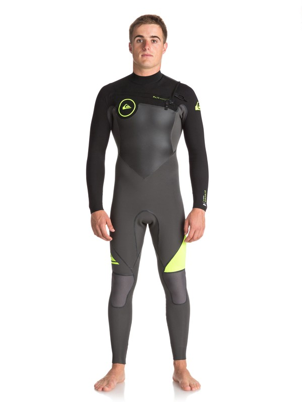0 4/3mm Syncro Plus Chest Zip Wetsuit Black EQYW103044 Quiksilver