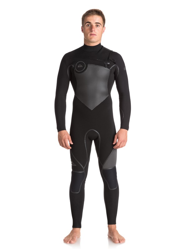 0 4/3mm Syncro Plus - Chest Zip Wetsuit for Men Black EQYW103044 Quiksilver