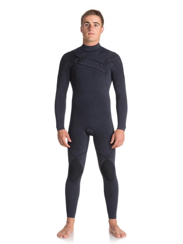 0 3/2mm Quiksilver Originals Monochrome Chest Zip Wetsuit Blue EQYW103053 Quiksilver
