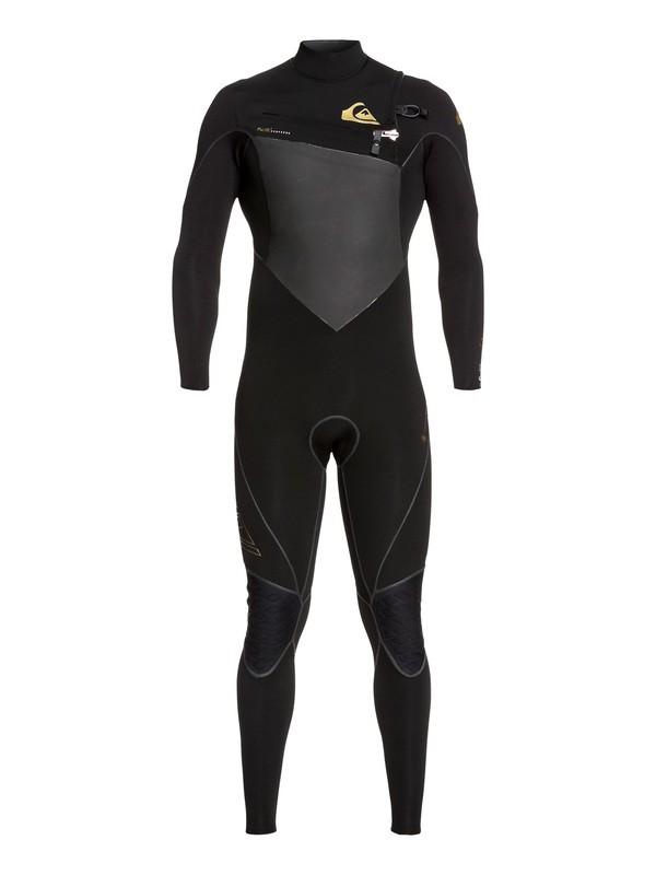 0 4/3mm Highline Plus - Chest Zip Wetsuit Black EQYW103059 Quiksilver