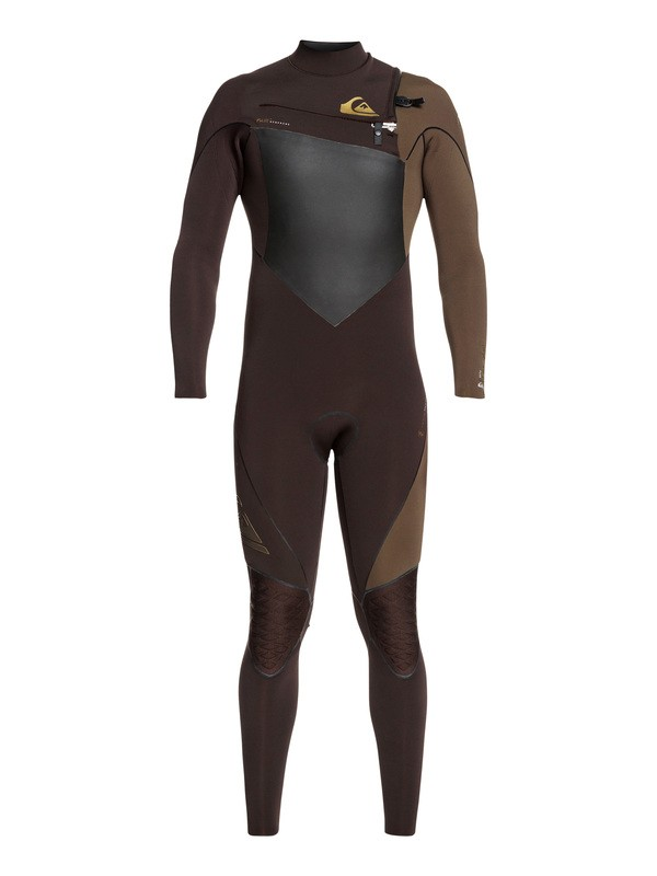 0 4/3mm Highline Plus Chest Zip Wetsuit Brown EQYW103059 Quiksilver