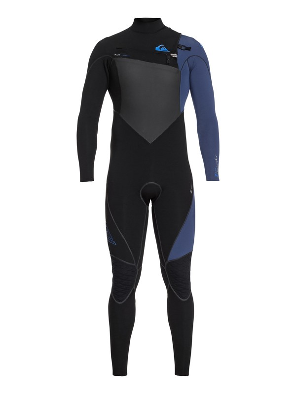 0 4/3mm Highline Plus - Chest Zip Wetsuit for Men Black EQYW103059 Quiksilver