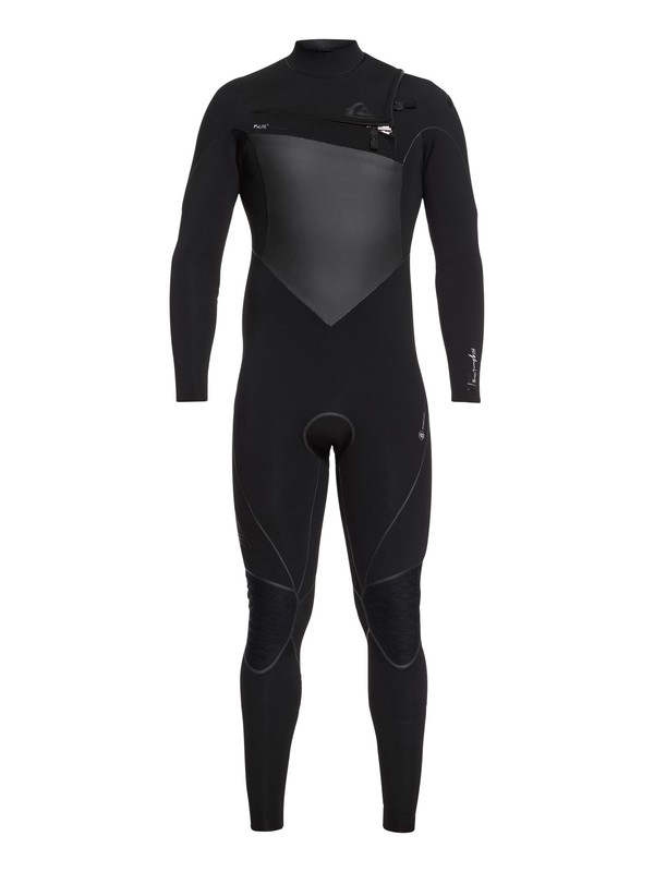 0 3/2mm Highline Plus Chest Zip Wetsuit Black EQYW103060 Quiksilver