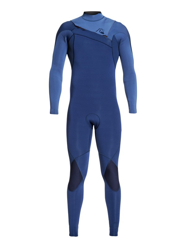 0 3/2mm Highline Ltd Monochrome Chest Zip Wetsuit Blue EQYW103075 Quiksilver