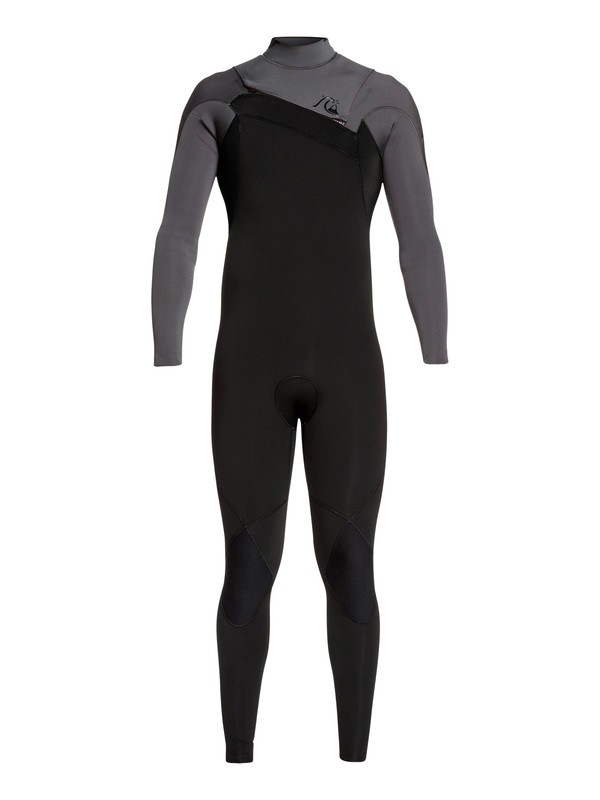 0 3/2mm Highline Ltd Monochrome Chest Zip Wetsuit Grey EQYW103075 Quiksilver