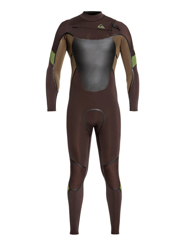 0 4/3mm Syncro Plus Chest Zip Wetsuit Brown EQYW103082 Quiksilver