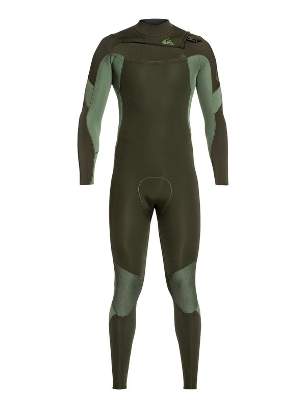 0 4/3mm Syncro Chest Zip GBS Wetsuit Brown EQYW103087 Quiksilver