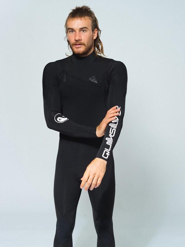 0 3/2 Highline Ltd M.W. - Chest Zip GBS Wetsuit for Men Grey EQYW103104 Quiksilver