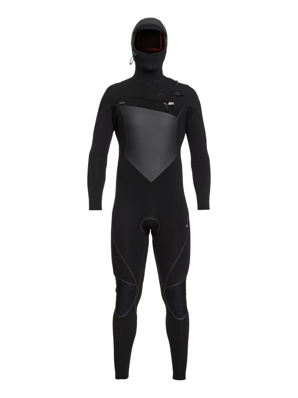 0 6/5/4mm Highline Series Hooded Chest Zip Wetsuit Black EQYW203010 Quiksilver