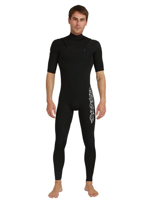 2/2mm Highline Ltd Monochrome - Short Sleeve Chest Zip Springsuit for Men  EQYW303010