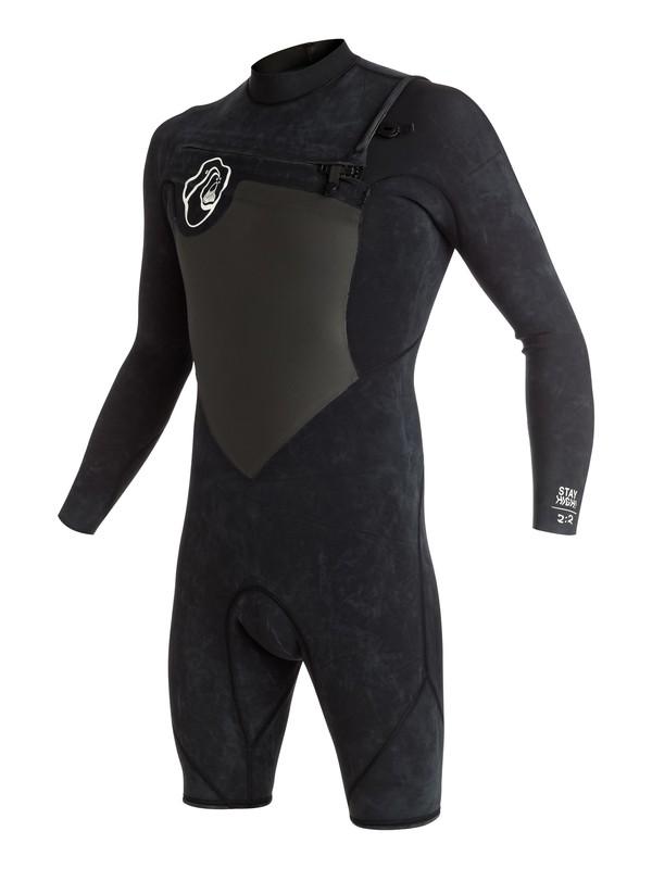 0 High Dye 2/2mm - Chest Zip Long Sleeve Springsuit Black EQYW403003 Quiksilver