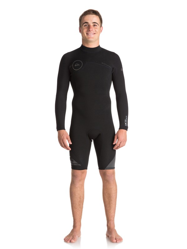0 2/2mm Syncro Series Long Sleeve Back Zip FLT Springsuit Black EQYW403005 Quiksilver