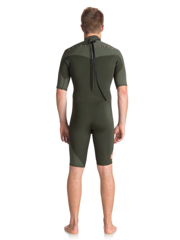 2/2mm Syncro Series - Short Sleeve Back Zip FLT Springsuit for Men  EQYW503006
