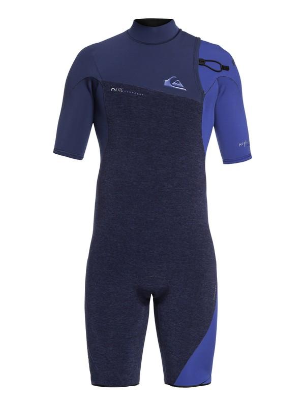 0 2/2mm Highline Series - Springsuit manches courtes sans zip pour Homme Bleu EQYW503009 Quiksilver