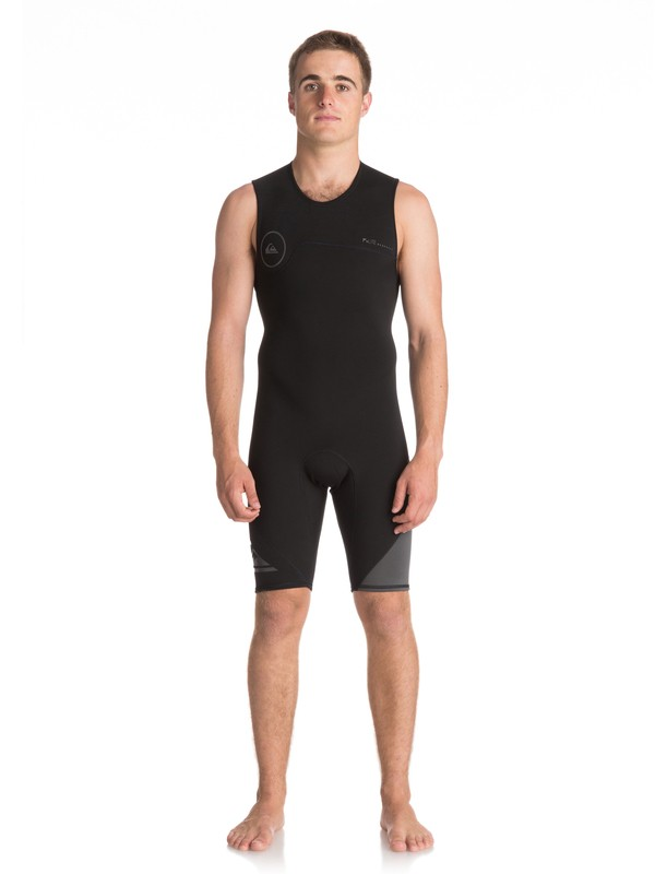 0 2mm Syncro Series - Short John Back Zip FLT Springsuit for Men Black EQYW603001 Quiksilver