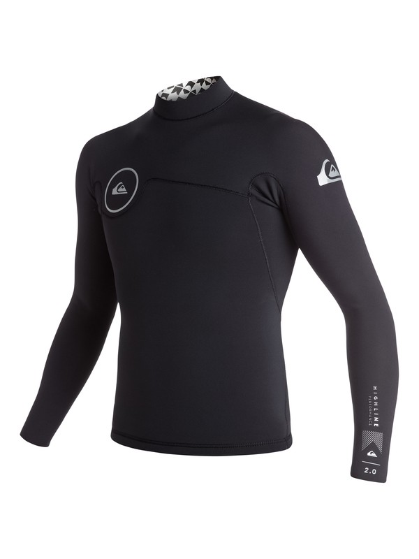 0 Highline Performance 2mm - Long Sleeve Neo Top Black EQYW803002 Quiksilver