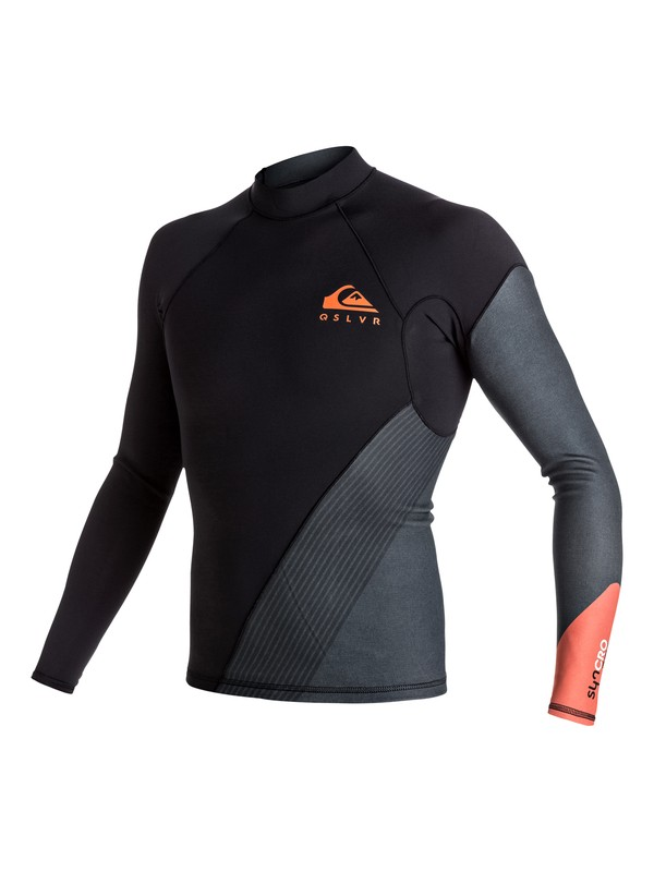0 1mm Syncro New Wave - Long Sleeve Neoprene Top for Men Orange EQYW803004 Quiksilver