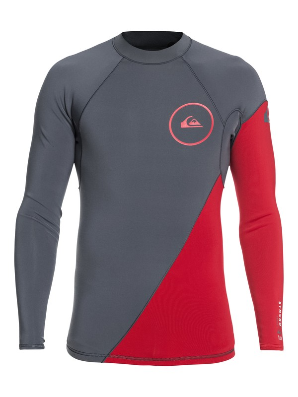 0 1mm Syncro Series Long Sleeve Neoprene Surf Top Brown EQYW803007 Quiksilver