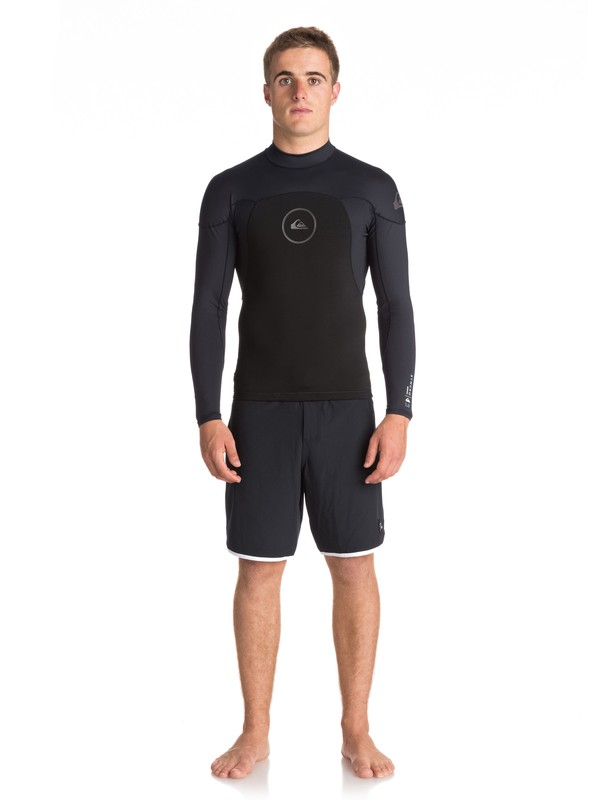 0 1mm Syncro Series Long Sleeve Neoprene Surf Top Black EQYW803008 Quiksilver