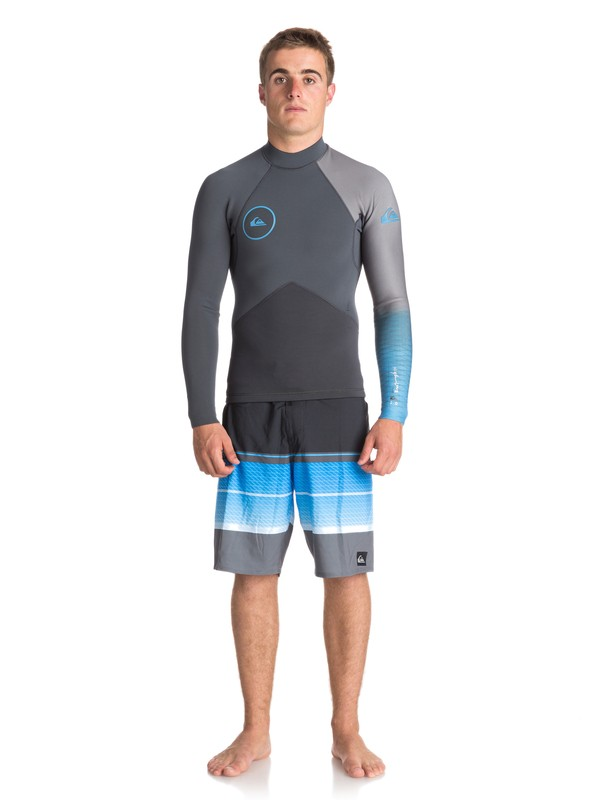 0 2mm Highline Plus - Top in Neoprene a Maniche Lunghe da Uomo Blue EQYW803009 Quiksilver