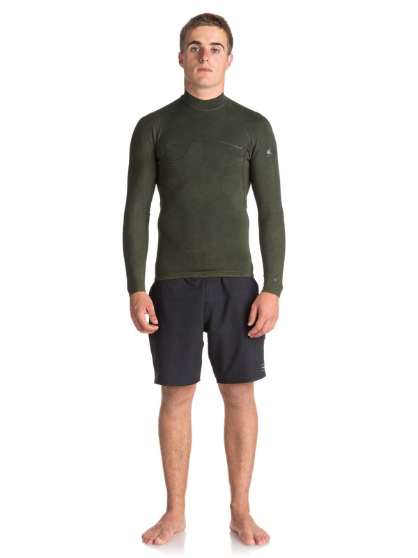 0 1.5mm Quiksilver Originals Monochrome - Wetsuit Top for Men Brown EQYW803010 Quiksilver