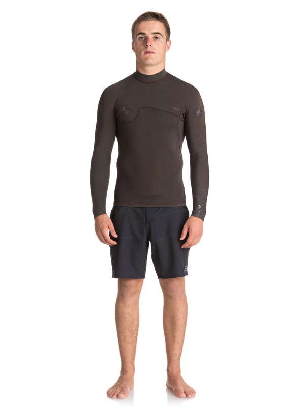0 1.5mm Quiksilver Originals Monochrome - Wetsuit Top for Men Black EQYW803010 Quiksilver