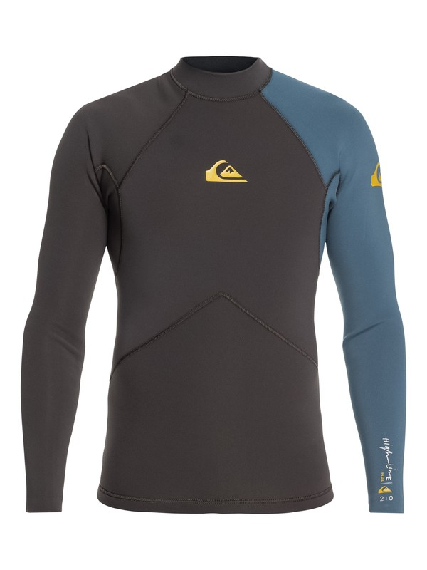 0 2mm Highline - Long Sleeve Wetsuit Top for Men Black EQYW803017 Quiksilver