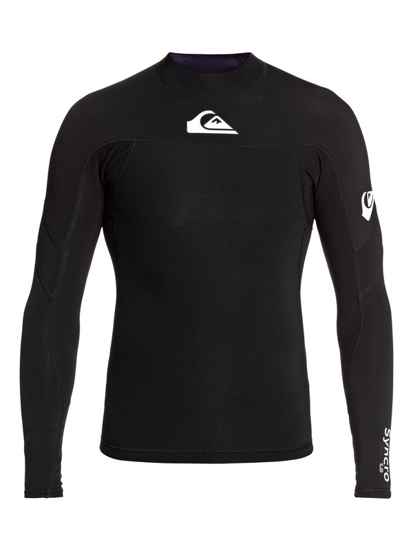 0 1mm Syncro Long Sleeve Neoprene Surf Top Black EQYW803025 Quiksilver