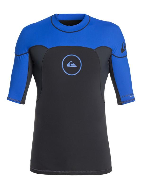 0 1mm Syncro Series - Top de surf néoprène manches courtes pour Homme Bleu EQYW903004 Quiksilver