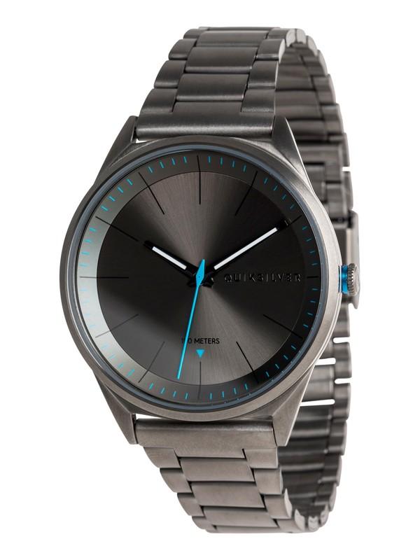 0 Bienville Metal - Reloj Analógico para Hombre Negro EQYWA03013 Quiksilver