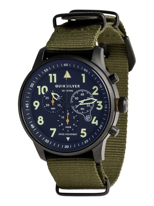 0 Seafire Nato - Analoge Uhr für Männer Grün EQYWA03016 Quiksilver