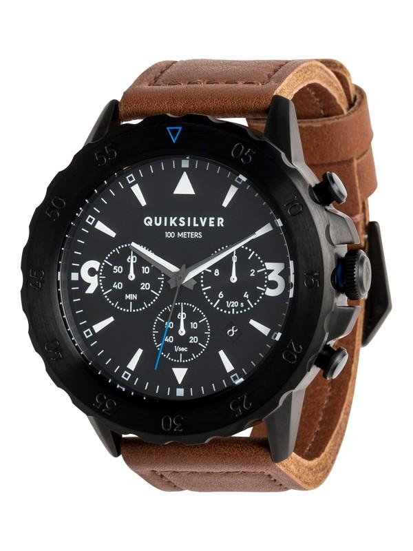 0 B-52 Chrono Leather - Analoge Uhr für Männer Schwarz EQYWA03020 Quiksilver