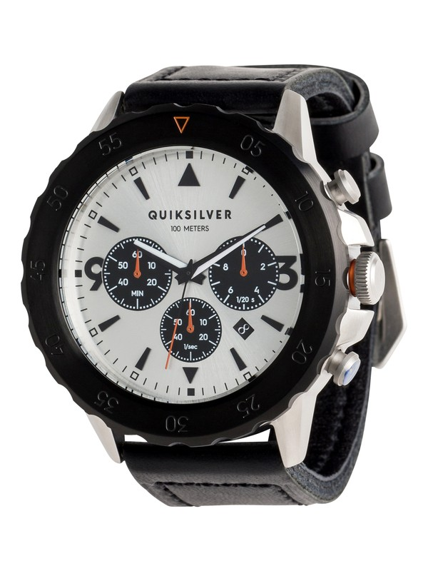 0 B-52 Chrono Leather - Analoog Horloge voor Heren Gray EQYWA03020 Quiksilver