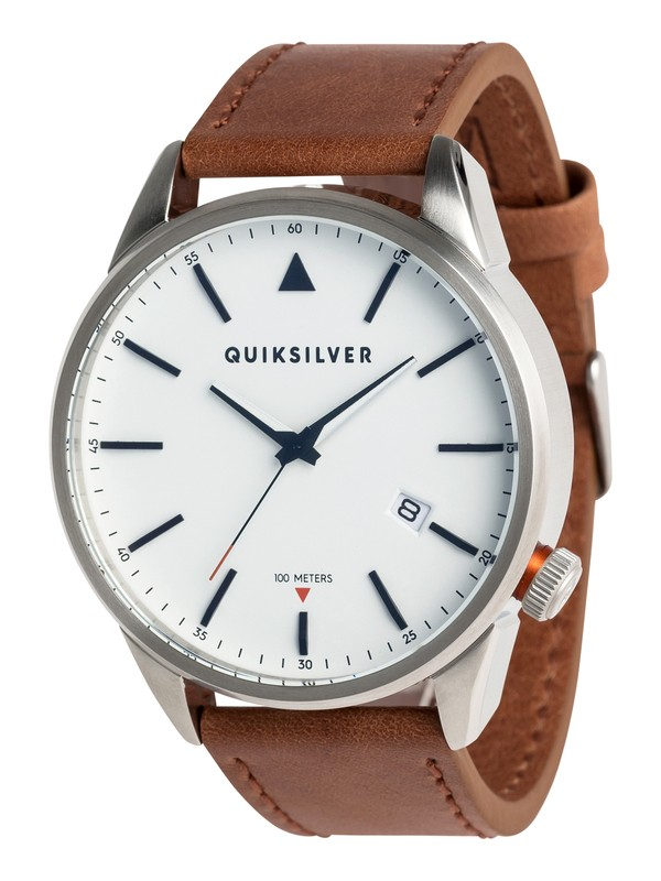 0 The Timebox Leather - Analogue Watch for Men Grey EQYWA03024 Quiksilver