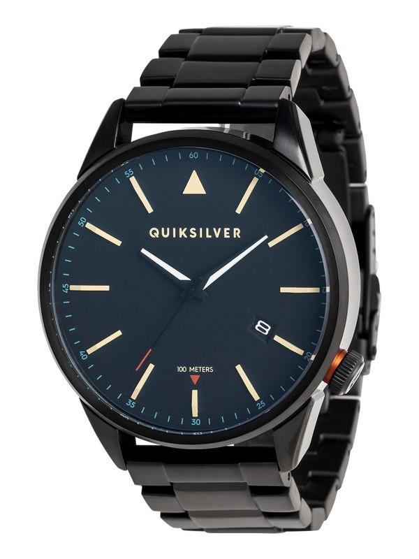 0 The Timebox Metal - Analoge Uhr für Männer Schwarz EQYWA03026 Quiksilver