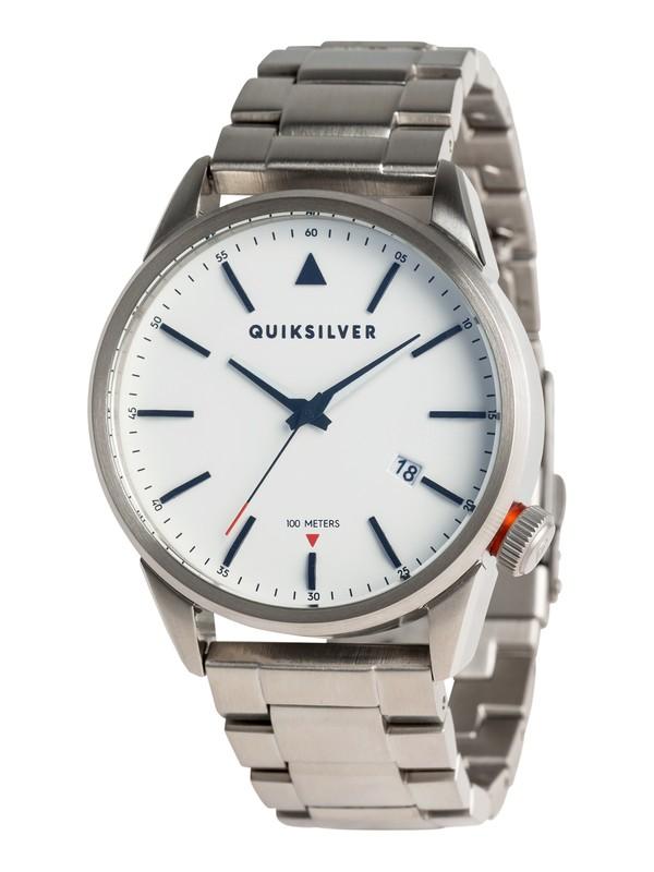 0 The Timebox 42 Metal - Reloj Analógico para Hombre Gris EQYWA03028 Quiksilver