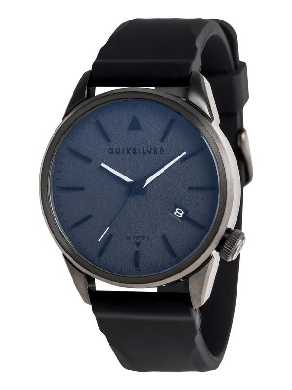0 The Timebox 42 Silicone - Analoge Uhr für Männer Schwarz EQYWA03029 Quiksilver
