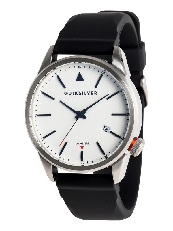 0 The Timebox 42 Silicone - Reloj Analógico para Hombre Gris EQYWA03029 Quiksilver