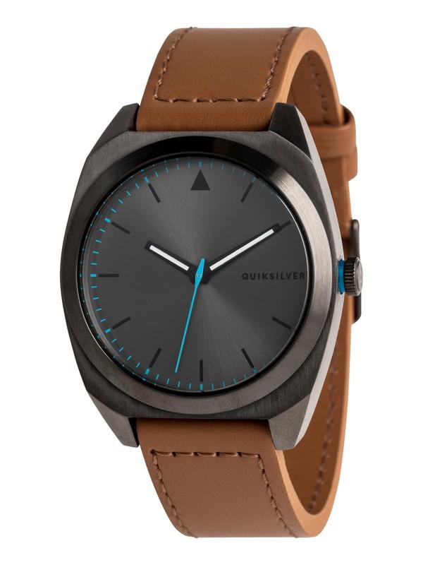 0 The PM Leather - Analoge Uhr für Männer Schwarz EQYWA03031 Quiksilver