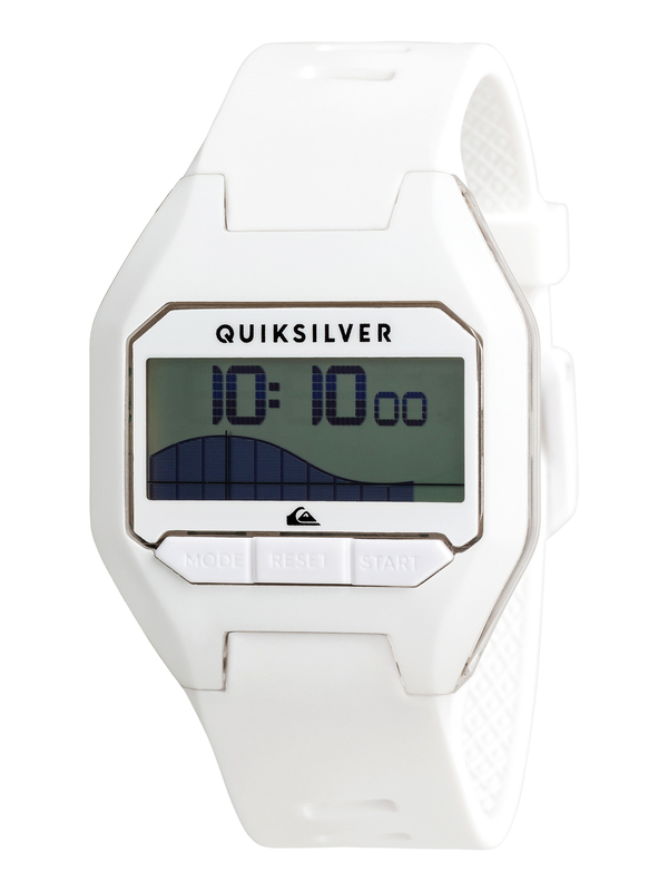 0 Addictiv Pro Tide - Digital Watch for Men White EQYWD03006 Quiksilver