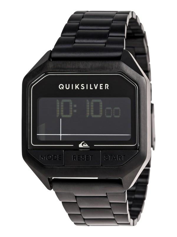 0 Addictiv Pro Tide Metal Digital Tide Watch for Men Black EQYWD03007 Quiksilver