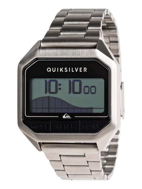 0 Addictiv Pro Tide Metal Digital Tide Watch for Men Grey EQYWD03007 Quiksilver
