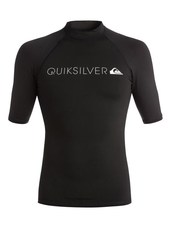 0 Heater - Short Sleeve Rash Vest Black EQYWR03026 Quiksilver