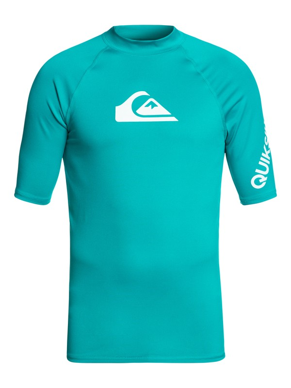 0 All Time Short Sleeve UPF 50 Rash Guard Blue EQYWR03033 Quiksilver