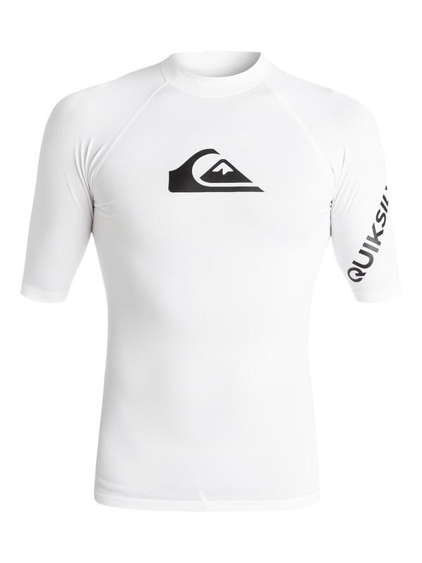 0 All Time Short Sleeve UPF 50 Rash Guard White EQYWR03033 Quiksilver